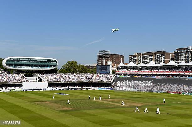 A general view of play during day two of 2nd Investec Test match between England and India at Lord's Cricket Ground on July 18 2014 in London United...