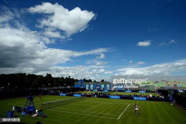 A general view of play during day two of Qualifying of the Aegon Open at Nottingham Tennis Centre on June 11 2017 in Nottingham England