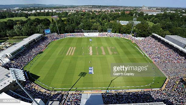 General view of play during day two of the 1st Investec Ashes Test match between England and Australia at SWALEC Stadium on July 9 2015 in Cardiff...