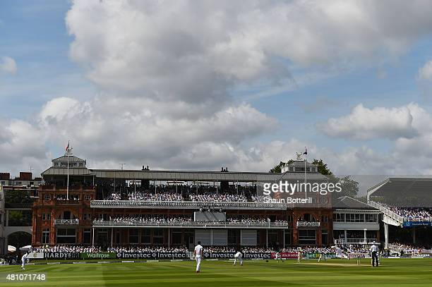 A general view of play during day two of the 2nd Investec Ashes Test match between England and Australia at Lord's Cricket Ground on July 17 2015 in...