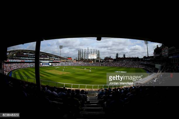 A general view of play during day two of the 3rd Investec Test match between England and South Africa at The Kia Oval on July 28 2017 in London...