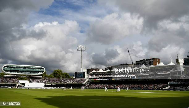 General view of play during day two of the 3rd Investec Test match between England and the West Indies at Lord's Cricket Ground on September 8 2017...