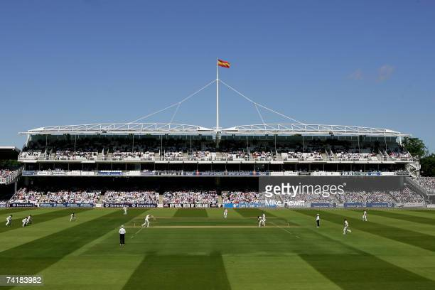 A general view of play during day two of the First Test between England and the West Indies at Lord's Cricket Ground on May 18 2007 in London England