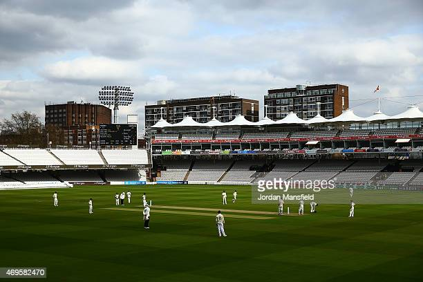 A general view of play during day two of the LV County Championship Division One match between Middlesex and Nottinghamshire at Lord's Cricket Ground...