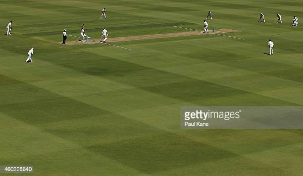 A general view of play during day two of the Sheffield Shield match between Western Australia and Victoria at WACA on December 10 2014 in Perth...
