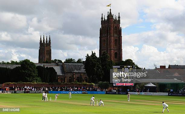 General view of play during Day Two of the Specsavers County Championship Division One match between Somerset and Middlesex at The Cooper Associates...