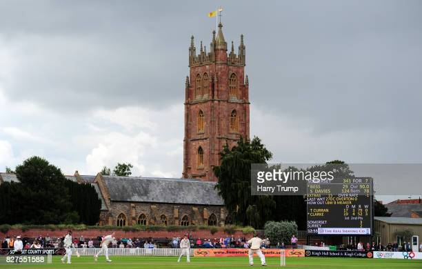 General view of play during Day Two of the Specsavers County Championship Division One match between Somerset and Surrey at The Cooper Associates...