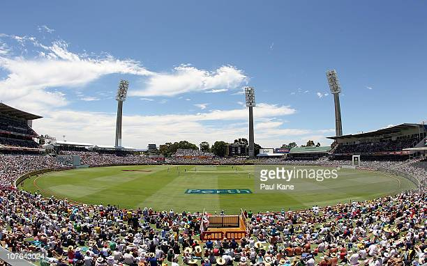 A general view of play during day two of the Third Ashes Test match between Australia and England at the WACA on December 17 2010 in Perth Australia