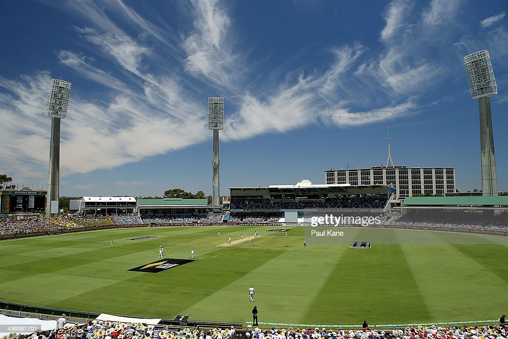 A general view of play during day two of the Third Ashes Test Match between Australia and England at the WACA on December 14, 2013 in Perth, Australia.