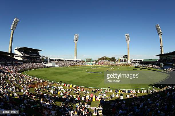 A general view of play during day two of the Third Ashes Test Match between Australia and England at the WACA on December 14 2013 in Perth Australia