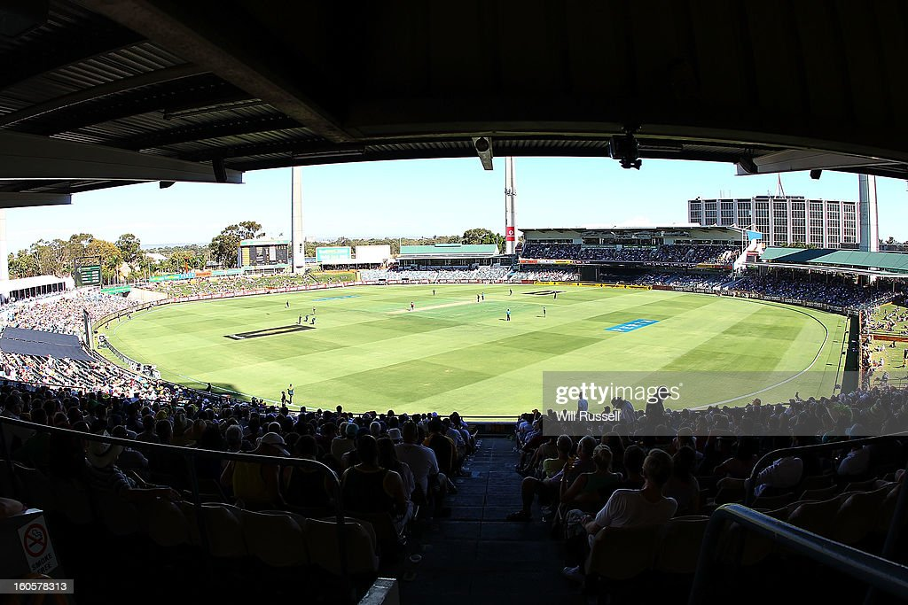 A general view of play during game two of the Commonwealth Bank One Day International Series between Australia and the West Indies at WACA on February 3, 2013 in Perth, Australia.