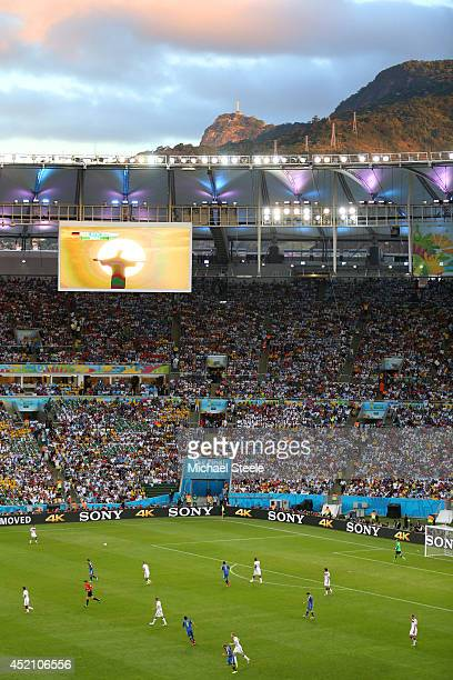 A general view of play during the 2014 FIFA World Cup Brazil Final match between Germany and Argentina at Maracana on July 13 2014 in Rio de Janeiro...