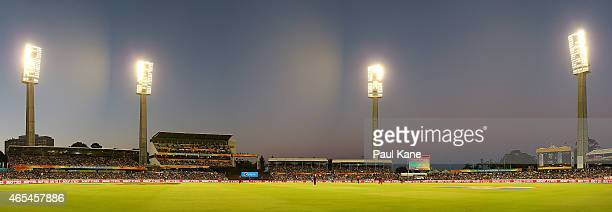 A general view of play during the 2015 ICC Cricket World Cup match between India and the West Indies at WACA on March 6 2015 in Perth Australia