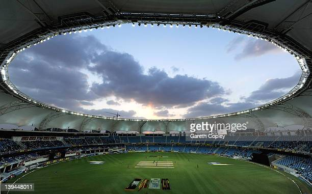 General view of play during the 4th One Day International between Pakistan and England at Dubai International Stadium on February 21 2012 in Dubai...