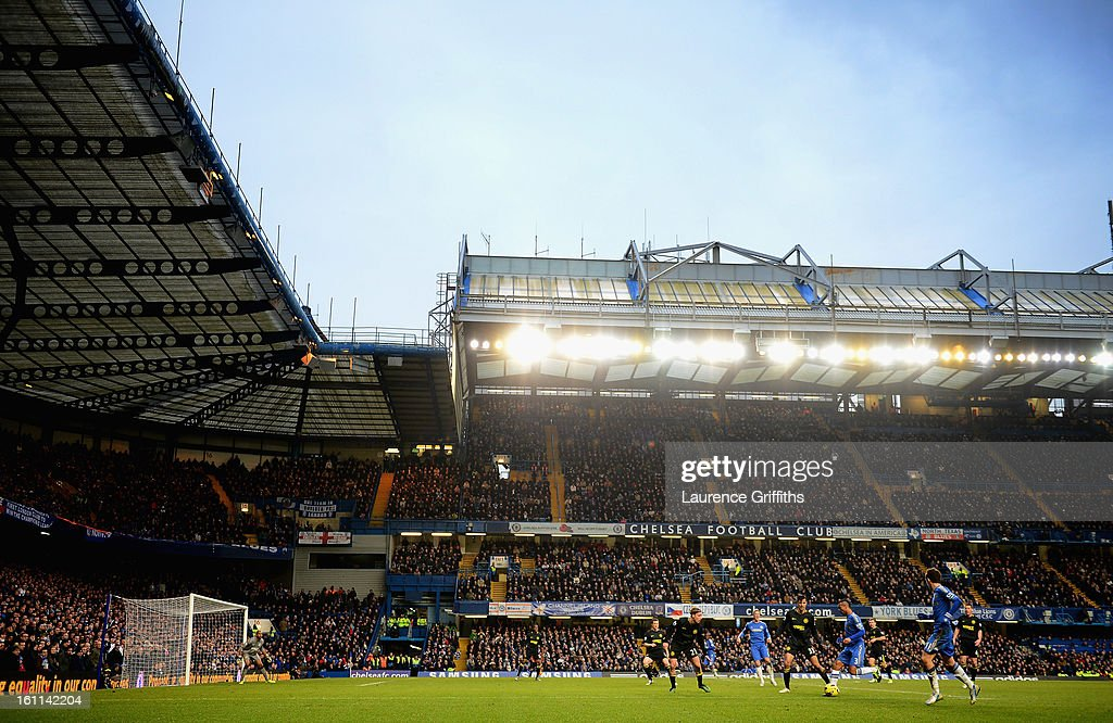 A general view of play during the Barclays Premier League match between Chelsea and Wigan Athletic at Stamford Bridge on February 9, 2013 in London, England.
