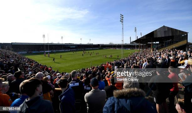 General view of play during the Betfred Super League match between Castleford Tigers and Catalans Dragons at Wheldon Road on March 26 2017 in...