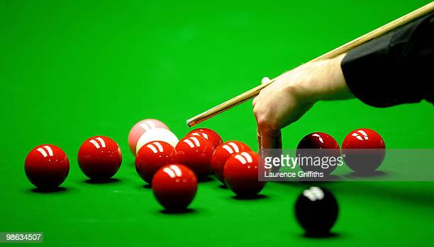 A general view of play during the Betfredcom World Snooker Championships match at The Crucible Theatre on April 23 2010 in Sheffield England