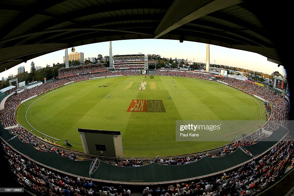 A general view of play during the Big Bash League final match between the Perth Scorchers and the Brisbane Heat at the WACA on January 19, 2013 in Perth, Australia.