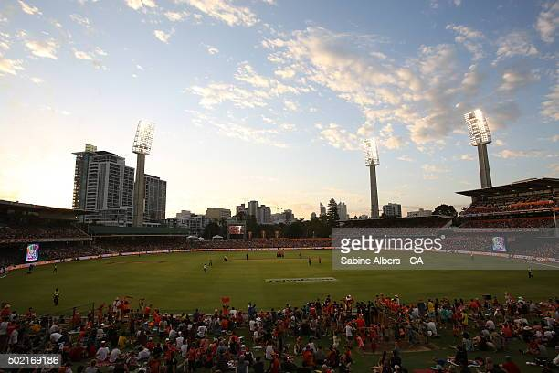 A general view of play during the Big Bash League match between Perth Scorchers and Adelaide Strikers at WACA on December 21 2015 in Perth Australia