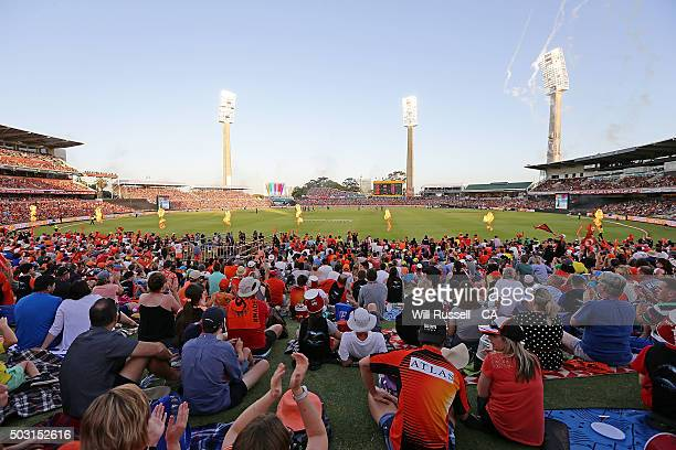 A general view of play during the Big Bash League match between Perth Scorchers and Sydney Sixers at WACA on January 2 2016 in Perth Australia