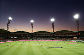 A general view of play during the Big Bash League match between the Sydney Thunder and the Melbourne Stars at Spotless Stadium on January 17 2015 in...