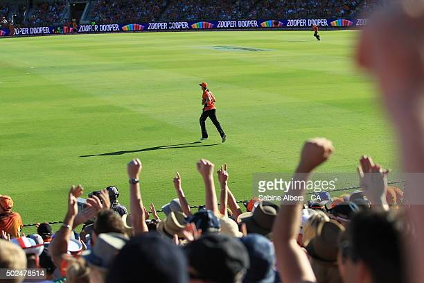 A general view of play during the Big Bash League match between the Scorchers and the Brisbane Heat at WACA on December 26 2015 in Perth Australia