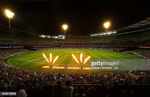 A general view of play during the Big Bash League match between the Melbourne Stars and the Hobart Hurricanes at Melbourne Cricket Ground on January...