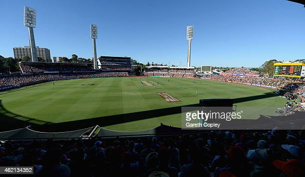 General view of play during the Big Bash League Semi Final match between the Perth Scorchers and the Melbourne Stars at WACA on January 25 2015 in...