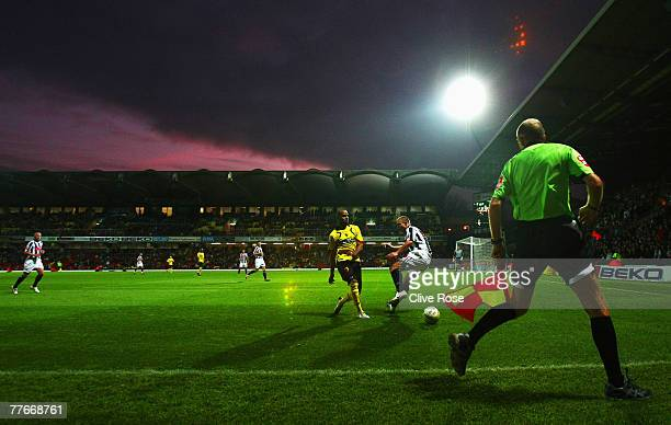A general view of play during the CocaCola Championship match between Watford and West Bromwich Albion at Vicarage Road on November 3 2007 in Watford...