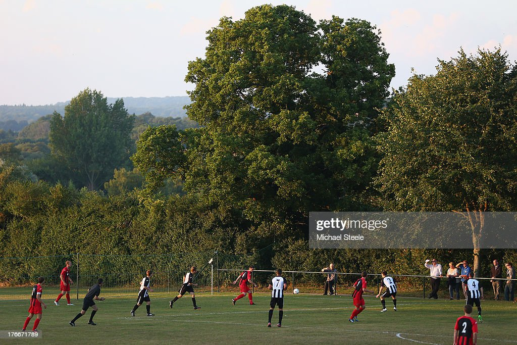 General view of play during the FA Cup Extra Preliminary Round match between Alresford Town and Winchester City at Alrebury Park on August 16, 2013 in New Alresford, England.