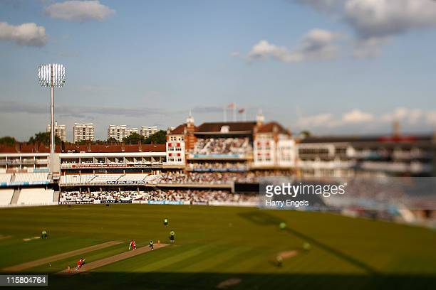 A general view of play during the Friends Life T20 match between Surrey and Glamorgan at The Kia Oval on June 10 2011 in London England