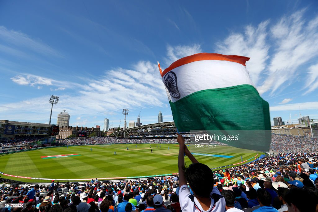 A general view of play during the ICC Champions trophy cricket match between India and South Africa at The Oval in London on June 11, 2017