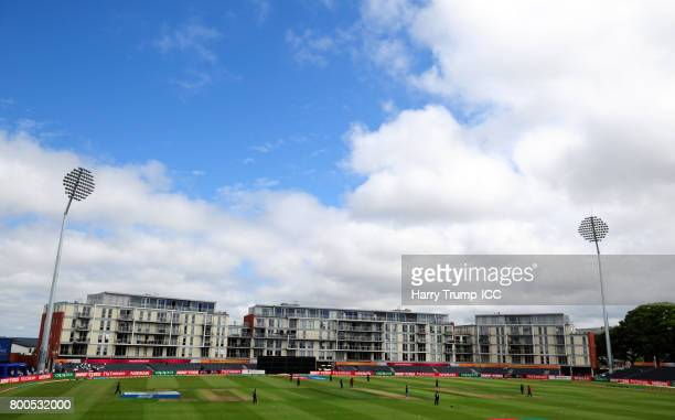 General view of play during the ICC Women's World Cup 2017 match between New Zealand and Sri Lanka at the Brightside Ground on June 24 2017 in...