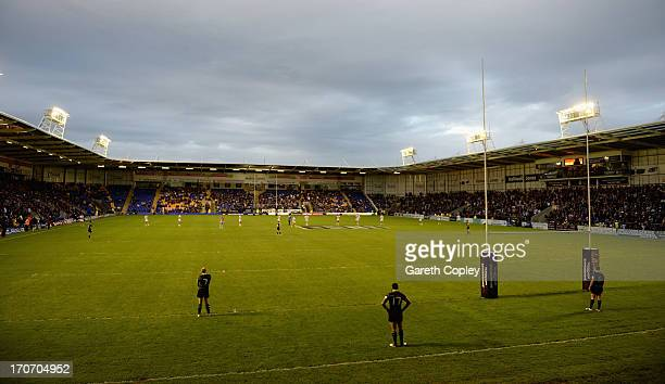 General view of play during the International Origin Match between England and Exiles at The Halliwell Jones Stadium on June 14 2013 in Warrington...