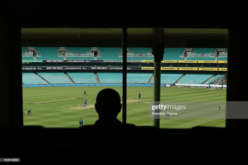 A general view of play during the International Tour match between Australia 'A' and the England Lions at Sydney Cricket Ground on February 25, 2013 in Sydney, Australia.
