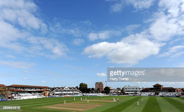General view of play during the LV County Championship match between Somerset and Warwickshire at the County Ground on September 25 2015 in Taunton...