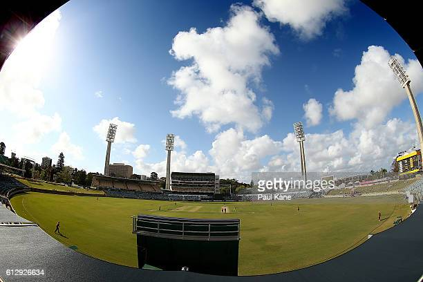 A general view of play during the Matador BBQs One Day Cup match between Western Australia and Queensland at WACA on October 6 2016 in Perth Australia