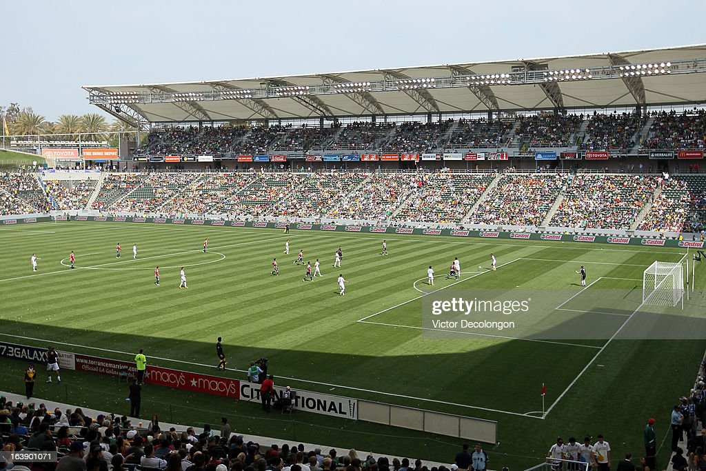 A general view of play during the MLS match between Chivas USA and the Los Angeles Galaxy at The Home Depot Center on March 17, 2013 in Carson, California. Chivas USA and the Los Angeles Galaxy played to a 1-1 draw.