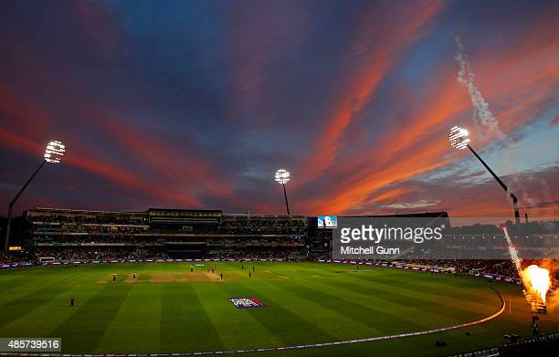 A general view of play during the NatWest T20 Blast Final between Northamptonshire and Lancashire at Edgbaston Cricket Ground on August 29 2015 in...