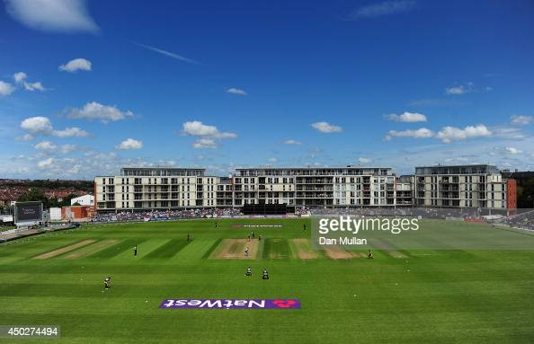 A general view of play during the NatWest t20 Blast match between Gloucestershire and Glamorgan at The County Ground on June 8 2014 in Bristol England