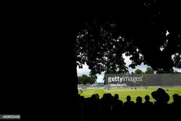 A general view of play during the Natwest T20 Blast match between Sussex Sharks and Somerset at Arundel Castle on June 15 2014 in Arundel England