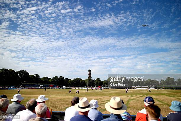 A general view of play during the NatWest T20 Blast match between Middlesex and Essex at Old Deer Park on July 10 2015 in Richmond England