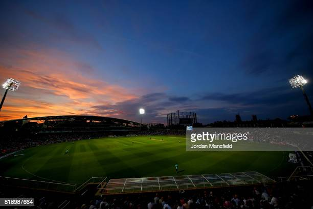 A general view of play during the NatWest T20 Blast match between Surrey and Essex Eagles at The Kia Oval on July 19 2017 in London England