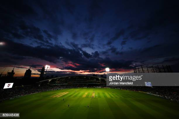 A general view of play during the NatWest T20 Blast match between Surrey and Glamorgan at The Kia Oval on August 4 2017 in London England
