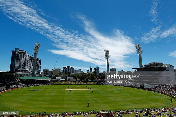 A general view of play during the One Day International match between Australia and South Africa at WACA on November 16 2014 in Perth Australia