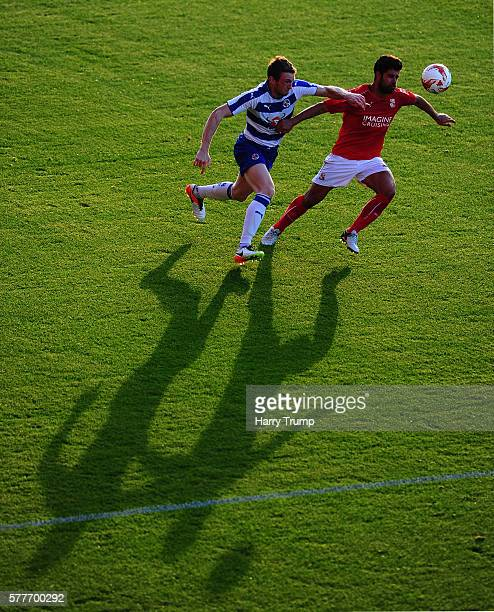 General view of play during the Pre Season Friendly match between Swindon Town and Reading at the County Ground on July 19 2016 in Swindon United...