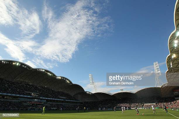 A general view of play during the round 12 ALeague match between Melbourne Victory and Perth Glory at AAMI Park on December 27 2015 in Melbourne...