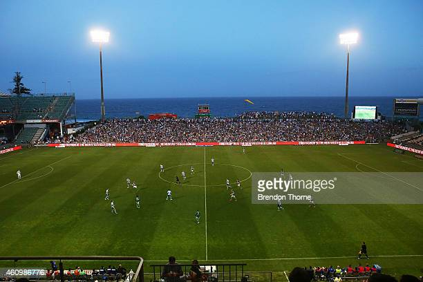 A general view of play during the round 15 ALeague match between Sydney FC and Newcastle Jets at WIN Stadium on January 3 2015 in Wollongong Australia