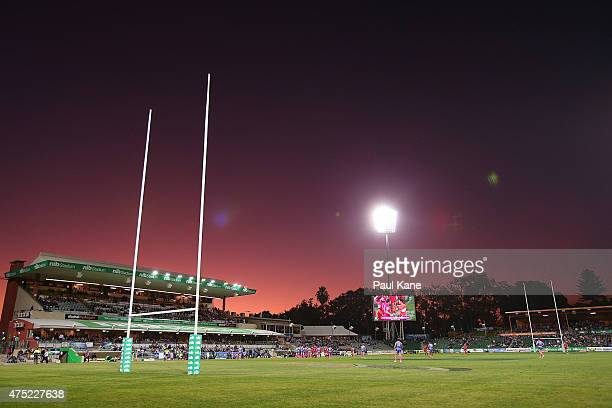 A general view of play during the round 16 Super Rugby match between the Western Force and the Queensland Reds at nib Stadium on May 30 2015 in Perth...