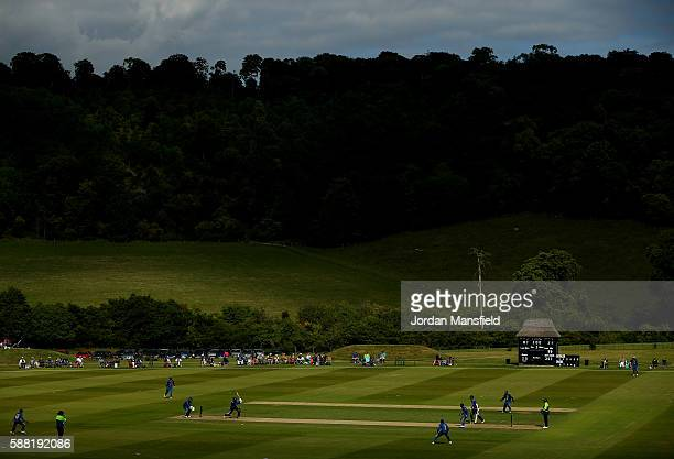 A general view of play during the Royal London OneDay Series match between England U19 v Sri Lanka U19 at Wormsley Cricket Ground on August 10 2016...